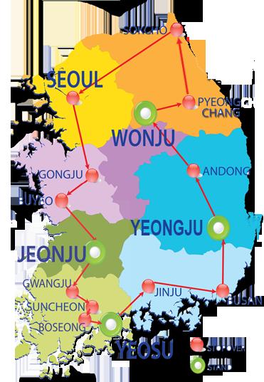 Seoul Korea Map In English.K Shuttle From Seoul To Korea
